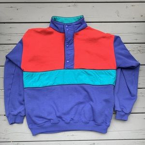 Vintage Eddie Bauer Colorblock Pullover Jacket